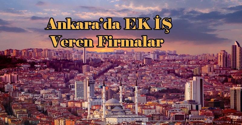 Ankara evlere iş veren firmalar